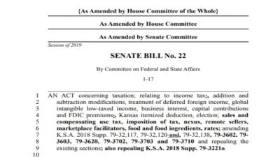 SB22 – Valid tax policy, or political validation?
